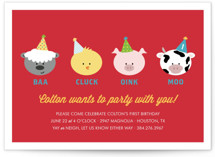Barnyard Crew Children's Birthday Party Invitations
