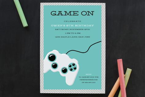 Game On Children's Birthday Party Invitations