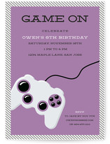 Game On Children's Birthday Party Invitations