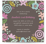 Gardenia Children's Birthday Party Invitations