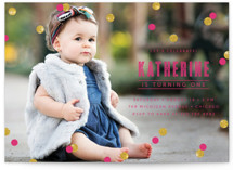 Confetti Children's Birthday Party Invitations
