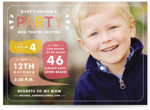 Mod Shout Out Children's Birthday Party Invitations