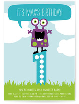 Little Monster Bash Children's Birthday Party Invitations