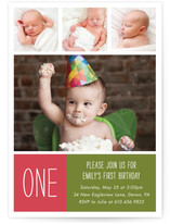 Photo Big One Children's Birthday Party Invitations