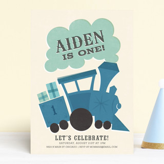 Terrific Train Children's Birthday Party Invitations