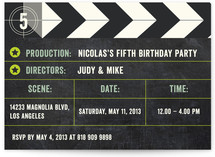 The Movie Children's Birthday Party Invitations