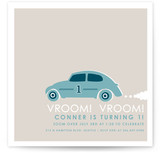 Vroom Vroom Car Children's Birthday Party Invitations