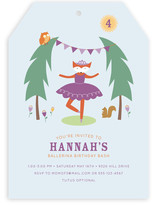 Woodland Ballerina Children's Birthday Party Invitations