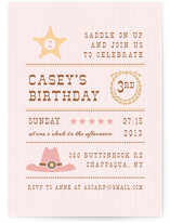 Yeehaw Children's Birthday Party Invitations