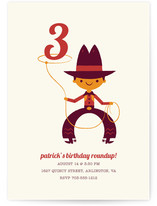 Lasso Cowboy Children's Birthday Party Invitations