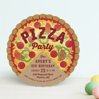 Pizza Pie Party Children's Birthday Party Invitations