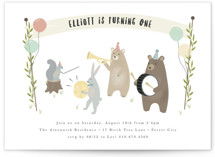 bears marching band Children's Birthday Party Invitations