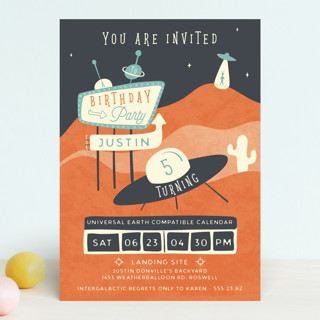 Roswell Children's Birthday Party Invitations