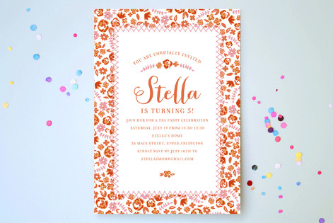 Shabby chic childrens birthday party invitations minted shabby chic childrens birthday party invitations filmwisefo