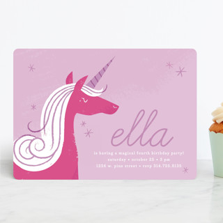 Sweet Unicorn Children's Birthday Party Invitations