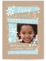Wintery Children's Birthday Party Invitations
