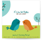 Happy Birdie to you Children's Birthday Party Invitations