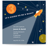 Rocket Blast Children&#039;s Birthday Party Invitations