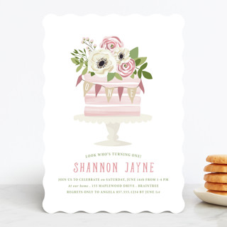 Sophisticated One Children's Birthday Party Invitations