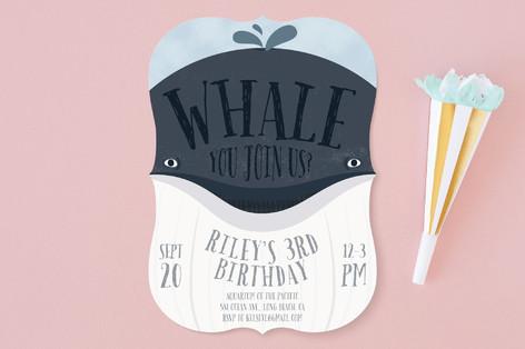 Whale Fun Children's Birthday Party Invitations