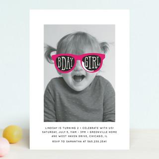 Birthday Girl Shades Children's Birthday Party Invitations