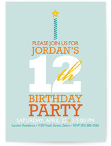 Typography Cake Children&#039;s Birthday Party Invitations