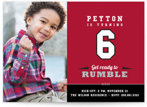 Rumble Children&#039;s Birthday Party Invitations