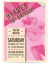 Concert Poster Children&#039;s Birthday Party Invitations
