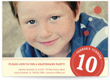 Round We Go Boy Children&#039;s Birthday Party Invitations