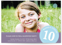 Round We Go Girl Children's Birthday Party Invitations
