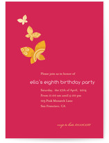Monarch Flutter Children's Birthday Party Invitations