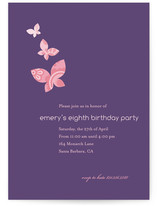 Monarch Flutter Children&#039;s Birthday Party Invitations