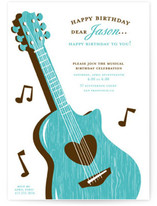 musical Children&#039;s Birthday Party Invitations