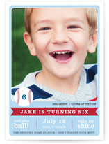 Play Ball! Children's Birthday Party Invitations