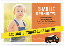 The Big Dig Children's Birthday Party Invitations