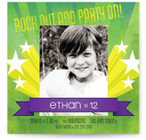 Rock Out and Party On Children's Birthday Party Invitations