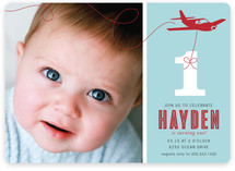 The Birthday Plane Children&#039;s Birthday Party Invitations