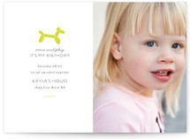 Balloon Fido Children's Birthday Party Invitations