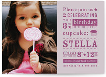 Littlest Cupcake Children&#039;s Birthday Party Invitations
