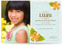 Lovely Luau Children's Birthday Party Invitations