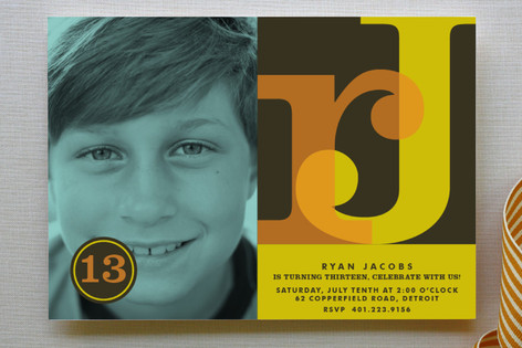 Serif-ly Children's Birthday Party Invitations