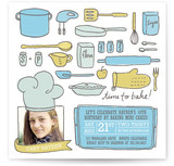 Le Petit Chef Children&#039;s Birthday Party Invitations
