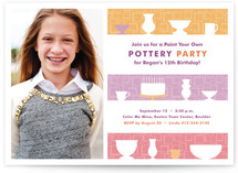 Pre-Teen Pottery Party Children&#039;s Birthday Party Invitations