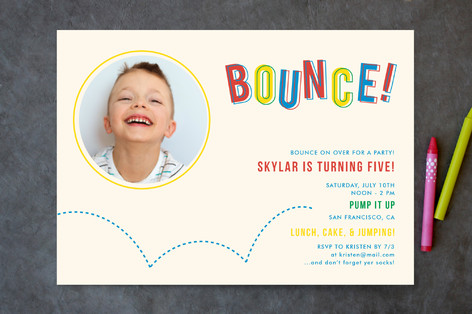 Bouncy Birthday Children's Birthday Party Invitations