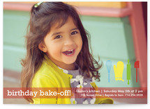 Birthday Bake-Off Children's Birthday Party Invitations