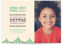 Under the Big Top Children&#039;s Birthday Party Invitations
