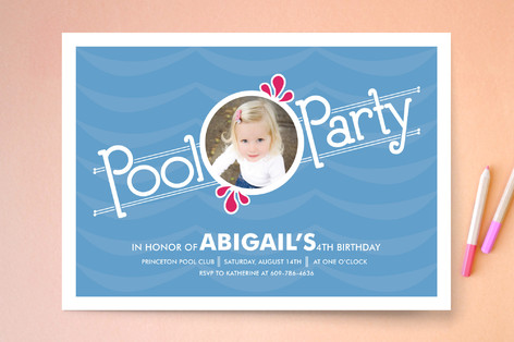 Pool Party Children's Birthday Party Invitations