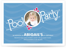 Pool Party Children&#039;s Birthday Party Invitations