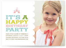Circus Tent Children&#039;s Birthday Party Invitations