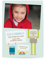 Robot Friends Children's Birthday Party Invitations
